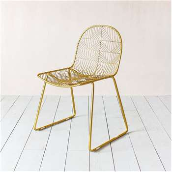 Calypso Gold Wire Chair (H83 x W50 x D55cm)