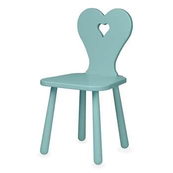 Cam Cam Copenhagen Heart Kids Chair - Canal Green (H58 x W31 x D29.5cm)
