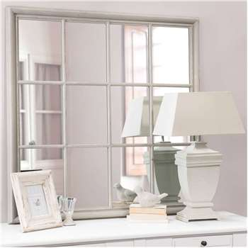 CAMARGUE wooden mirror in grey H 120cm