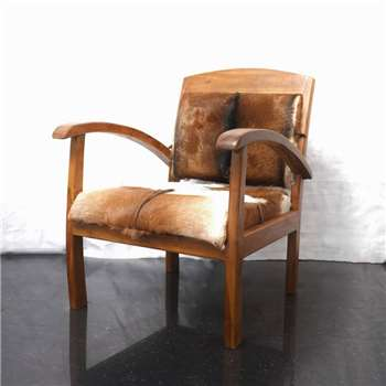 Cambrewood Goat Hide Arm Chair (72 x 60cm)