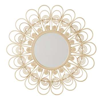 CAMELIA - Rattan Flower Mirror (Diameter 100cm)