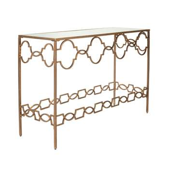 Camille Console Table - Antique Gold (80 x 120cm)