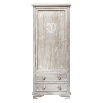 CAMILLE Greyed Paulownia Wood Closet (H180 x W75 x D50cm)