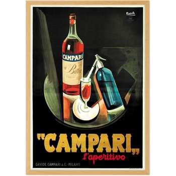 Campari Vintage Drinks Framed A1 Wall Art Print, Multi (H89 x W61 x D2cm)