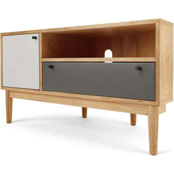 Campton Corner Media Unit, Oak (H58 x W105 x D50cm)