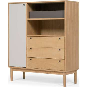 Campton Highboard, Oak (H125 x W105 x D42cm)