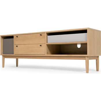 Campton Media Unit, Oak (H59 x W174 x D42cm)