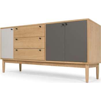Campton Sideboard, Oak (H75 x W174 x D42cm)