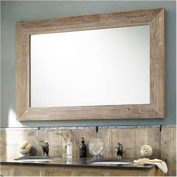 CANCALE whitewashed wood mirror H 200cm