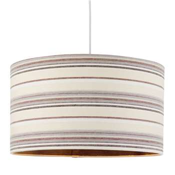 Candy Pendant Light Shade 50cm Grey (H25 x W50 x D50cm)