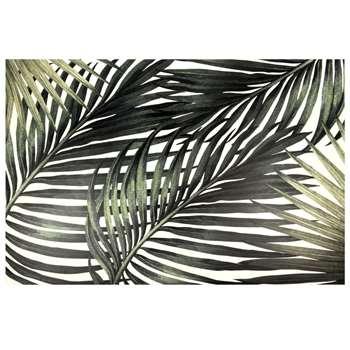 CANOPE - Vinyl Rug with Tropical Leaf Print (H100 x W150 x D2cm)