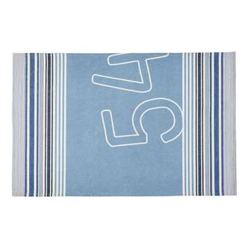 CAP FERRET Outdoor Rug with Blue and Beige Graphic Print (H160 x W230cm)