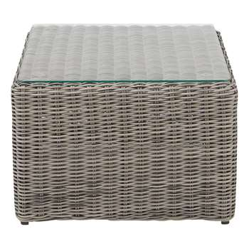 CAPE TOWN Wicker garden side table (37 x 55cm)