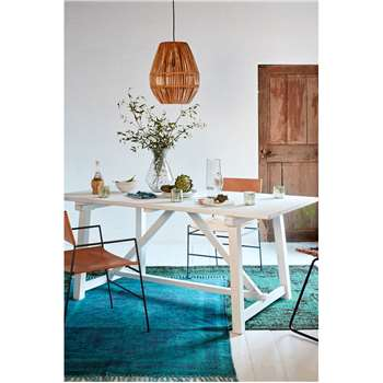 Capri Dining Table - White (H90 x W180 x D76cm)