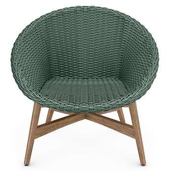 Capri Teak Chair, Sage Green (H77 x W82 x D72cm)