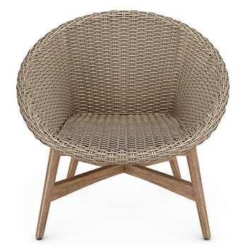 Capri Teak Chair, Sand (H77 x W82 x D72cm)