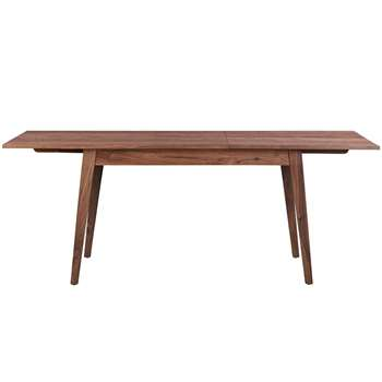 Capri Walnut Extending Dining Table (H75 x W200 x D90cm)