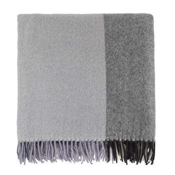 Caracas Merino Blanket, Black, Grey & Cream (130 x 170cm)