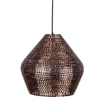 Dutchbone Cooper Handmade Ceiling Light in Sparkling Copper Finish (Diameter 30cm)