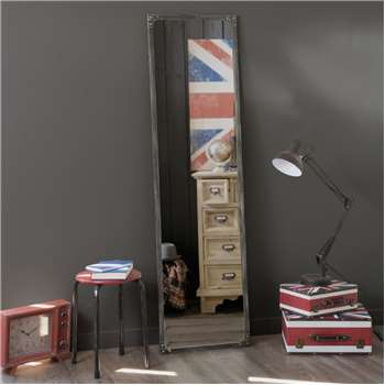 CARGO rust effect metal mirror H 165cm