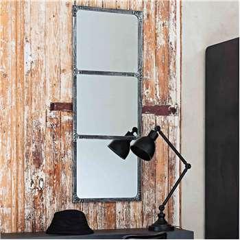 CARGO rust effect metal mirror H120 x W45cm