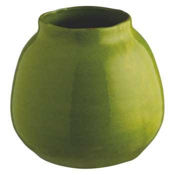 Carine Green round terracotta vase