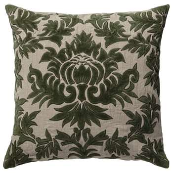 Carlotta Cushion Cover, Large - Evergreen (51 x 51cm)
