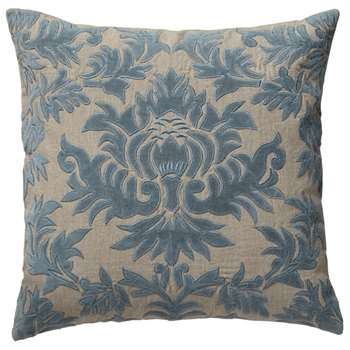 Carlotta Cushion Cover, Large - Heron Blue (51 x 51cm)