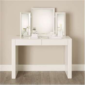 Carlton Glass Dressing Table, White (81.5 x 122cm)