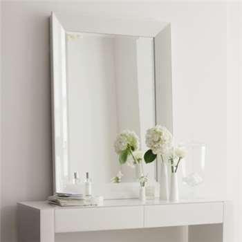 Carlton Glass Framed Wall Mirror - White 112 x 81cm