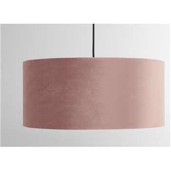 Carmella Drum Lamp Lamp Shade, Old Rose Velvet (H20 x W45 x D45cm)