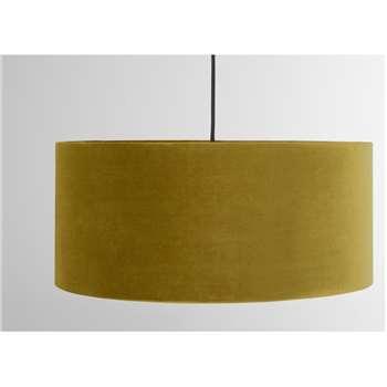 Carmella Drum Lamp Shade, Antique Gold Velvet (H20 x W45 x D45cm)