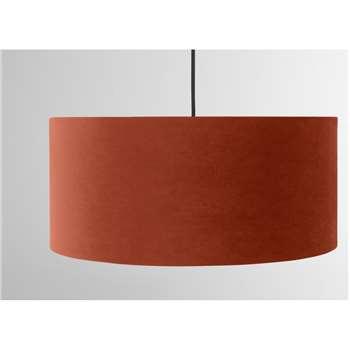 Carmella Lamp Shade, Burnt Orange Velvet (H20 x W45 x D45cm)