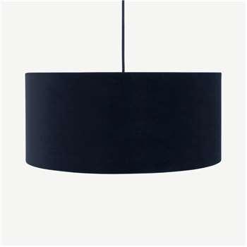 Carmella Pendant Lamp Shade, Dark Navy Velvet (H20 x W45 x D45cm)