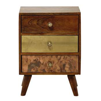 CARMEN - Mango Wood Side Table (H62 x W45 x D37cm)