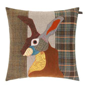 Carola van Dyke - Brown Hare Cushion (50 x 50cm)