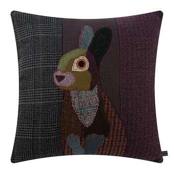 Carola van Dyke - Dark Rabbit Cushion (H50 x W50cm)