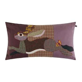 Carola van Dyke - Leaping Hare Cushion (H40 x W70cm)