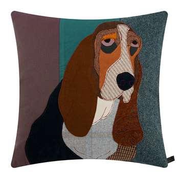 Carola van Dyke - Lucien the Basset Cushion (H50 x W50cm)