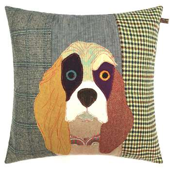 Carola van Dyke - Muriel the Spaniel Cushion (50 x 50cm)