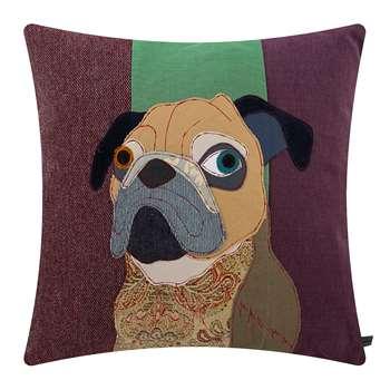 Carola van Dyke - Tarquin the Pug Cushion (H50 x W50cm)