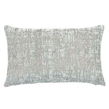 CAROLE - Blue-Grey Cotton Cushion Cover (H30 x W50cm)