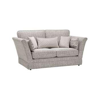 Carrington Silver Fabric 2 Seater Sofa (H98 x W195.5 x D102cm)