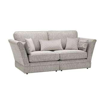Carrington Silver Fabric 3 Seater Sofa (H98 x W220 x D102cm)