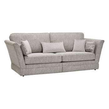 Carrington Silver Fabric 4 Seater Sofa (H98 x W251.5 x D102cm)