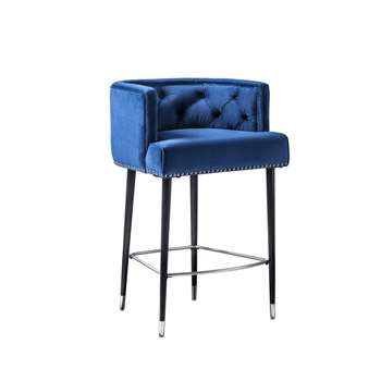 Carter Bar stool - Ink Blue (H95 x W59 x D58cm)