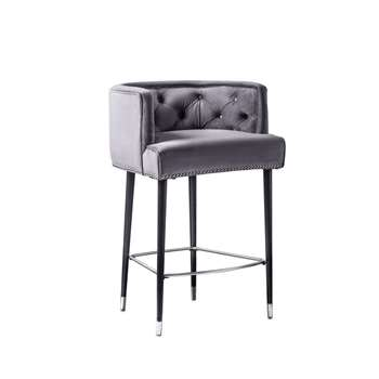 Carter Bar stool - Storm Grey (H95 x W59 x D58cm)