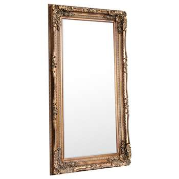Carved Louis Leaner Mirror - Gold, 176 x 89.5cm