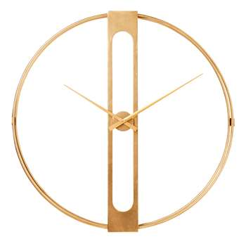 Case wall clock large gold (107 x 107cm)