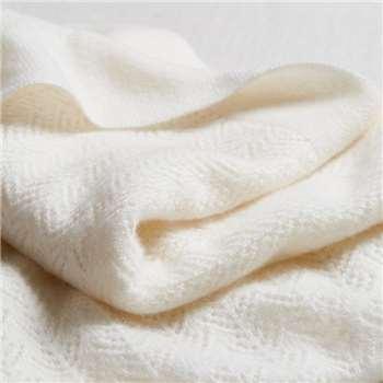 Cashmere Christening Baby Blanket, White (75 x 100cm)